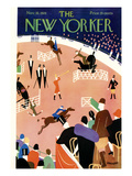 The New Yorker Cover - November 10, 1928 Premium Giclée-tryk af Theodore G. Haupt