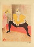 La Clownesse Lámina coleccionable por Henri de Toulouse-Lautrec