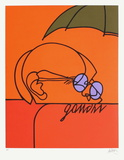 Gandhi Serigrafiprint (silkscreentryck) av Valerio Adami