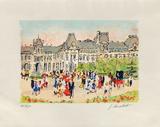 Paris, Le Louvre Collectable Print by Urbain Huchet