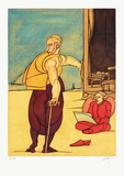 Angelus Limitierte Auflage von Valerio Adami