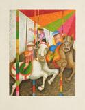 Les chevaux de bois Collectable Print by Graciela Rodo Boulanger