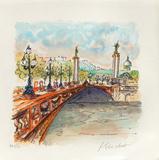 Paris, Le Pont Alexandre III Collectable Print by Urbain Huchet
