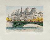 Paris, L'Hôtel De Ville Collectable Print by Urbain Huchet