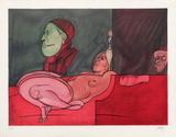Le Peintre Aux Lunettes Limited Edition av Valerio Adami