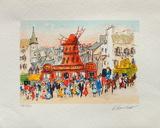 Paris, Le MouIIn Rouge III Collectable Print by Urbain Huchet