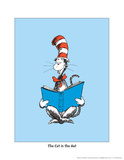 The Cat in the Hat (on blue) Arte por Theodor (Dr. Seuss) Geisel