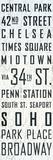 New York Sites Tin Sign