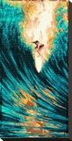 Surfer på blått hav Trykk på strukket lerret av Marco Almera