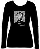 Women's: Long Sleeve - Lincoln - Gettysburg Address Camisetas de manga larga para mujer