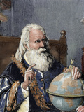 Galileo Galilei (1564-1642). Physicist, Italian Mathematician and Astronomer Stretched Canvas Print by  Prisma Archivo