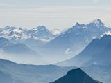 Jungfrau Massif from Schilthorn Peak, Jungfrau Region, Switzerland Photographic Print by Michael DeFreitas