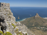 Table Mountain National Park Cableway Aerial Tram and Station, Cape Town, South Africa Fotografisk tryk af Cindy Miller Hopkins