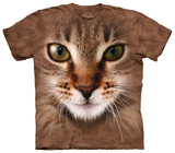 Striped Cat Face T-Shirt