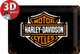 Harley-Davidson Paint Logo Plaque en métal