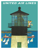 United Air Lines: Lighthouse, c.1960s Giclée-vedos tekijänä Stan Galli