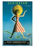 Pan American: Caribbean by Clipper, c.1958 Prints by Jean Carlu
