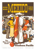 Southern Pacific Railroad: See Mexico This Year, c.1935 Poster av Maurice Lorand