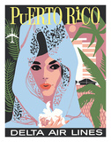 Delta Air Lines: Puerto Rico Giclee Print