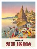 Banaras: See India, c.1940s Pôsters