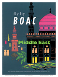British Overseas Airways Corporation: Fly by BOAC - Middle East, c.1954 Posters