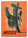 Mexico: Mariachi Cactus, c.1945 Láminas
