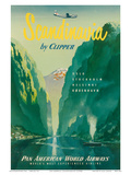 Pan American: Scandinavia by Clipper, c.1951 Poster