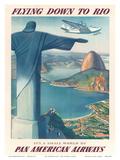 Pan American: Flying Down to Rio, c.1930s Pôsters por Paul George Lawler