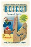 Pan American: Beirut - Libanon im Clipper ca.1950s, Englisch Kunstdrucke