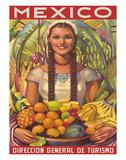 Direccion General de Turismo: Mexico - Plenty of Fruit Giclée-vedos tekijänä Jorge González Camarena
