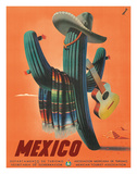 Mexico: Mariachi Cactus, c.1945 Reproduction procédé giclée