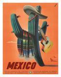 Mexico: Mariachi Cactus, c.1945 Giclée-tryk