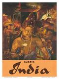 Ajanta, India, c.1959 Posters
