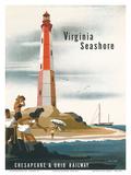 Chesapeake & Ohio Railroad: Virginia Seashore, c.1950s ポスター : ベルン・ヒル