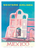 Western Airlines: Mexico, c.1959 Posters av Will Grant