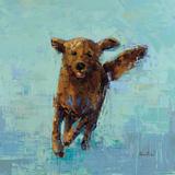 Golden Dog No. 5 Poster af Rebecca Kinkead