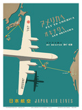 Japan Airlines: Fly to America Poster