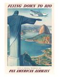 Pan American: Flying Down to Rio, c.1930s Reproduction procédé giclée par Paul George Lawler