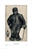 Peasant Walking Poster av Vincent van Gogh