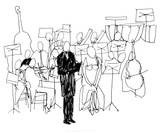 Concertino, c.2009 Serigrafi (silketryk) af Cédric Chauvelot