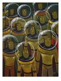 Brave Explorers of Yesteryear Giclée-Premiumdruck von Aaron Jasinski