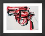 Arma, cerca de 1981-82 (preto e vermelho sobre branco) Arte por Andy Warhol