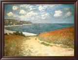 Path Through the Corn at Pourville, c.1882 Prints by Claude Monet