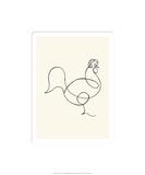 Le coq, c.1918 Zeefdruk van Pablo Picasso