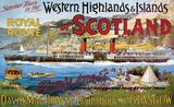 Western Highlands of Scotland Blechschild
