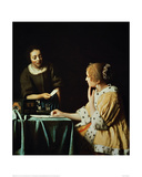 Woman with Maid and Letter Giclée-vedos tekijänä Johannes Vermeer