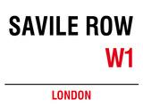 Saville Row Blechschild