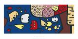 Früchte auf Blau, c.1938 Serigrafie von Paul Klee