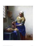 The Milkmaid Lámina giclée por Johannes Vermeer
