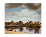 View of Delft Giclée-tryk af Johannes Vermeer